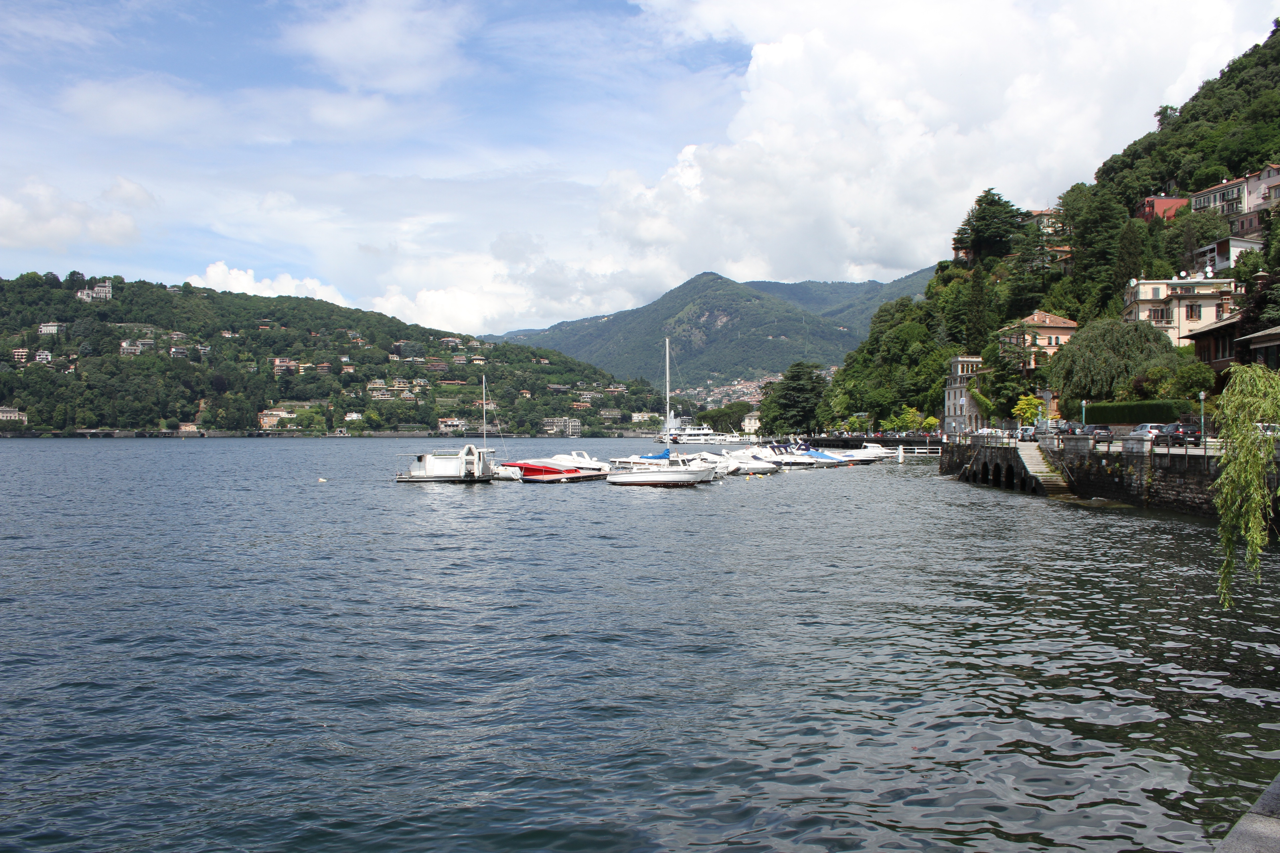 Lake Como, wet, expensive and a day too long.