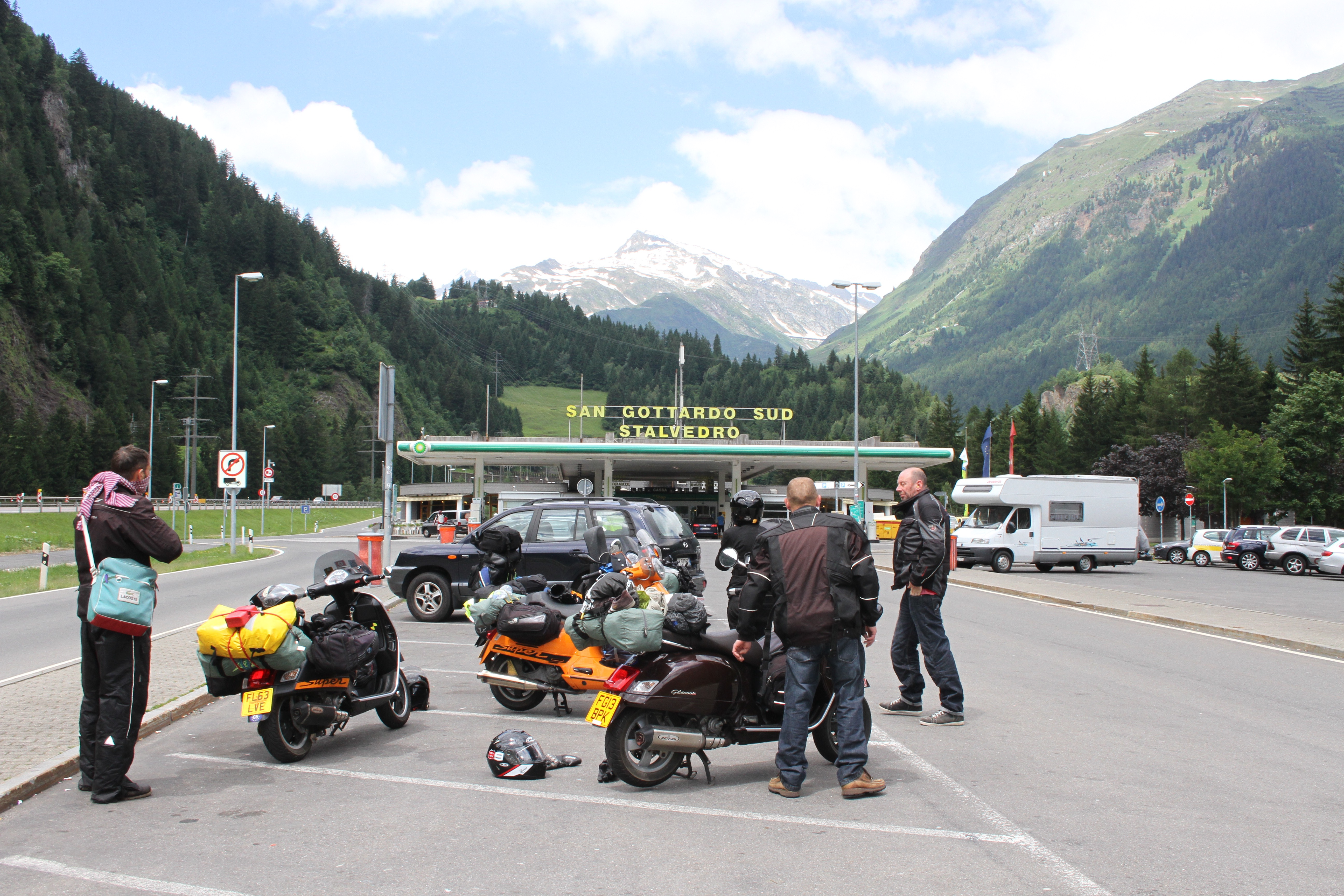 Fuel stops in Switzerland reminds me of Toddington services on the M1
