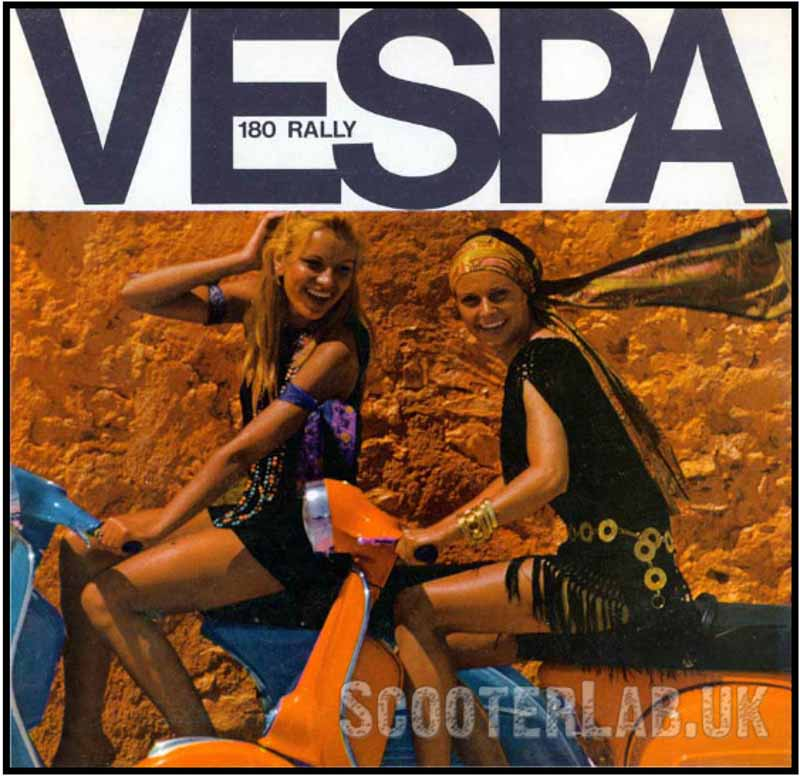 Vespa advert from 1970 for the Rally 180.