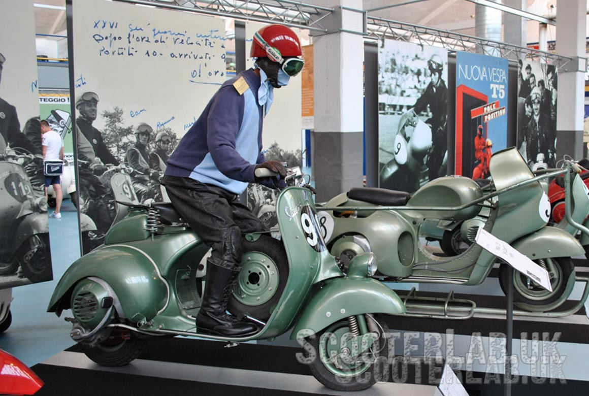 The rare Sei Giorno (Six Day) Racer that inspired the Vespa Gran Sport and every subsequent sports scooter in the range.