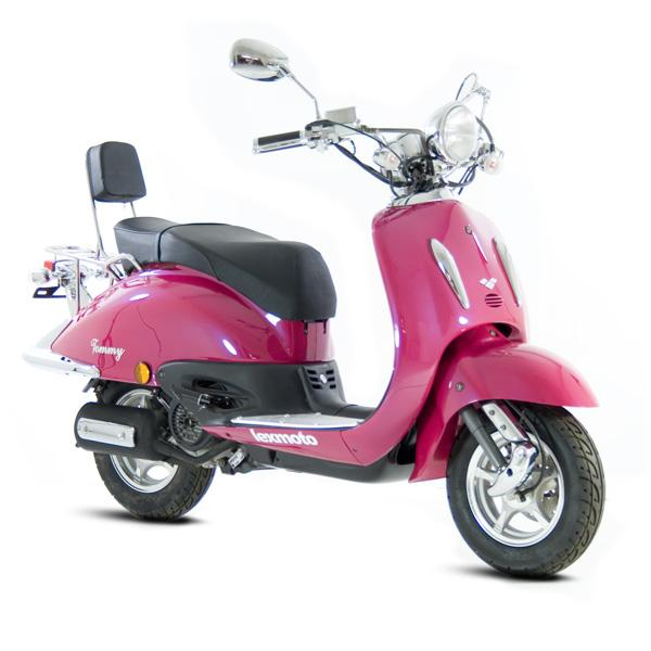 Scootacar started life as a Lexmoto Tommy in shocking pink...