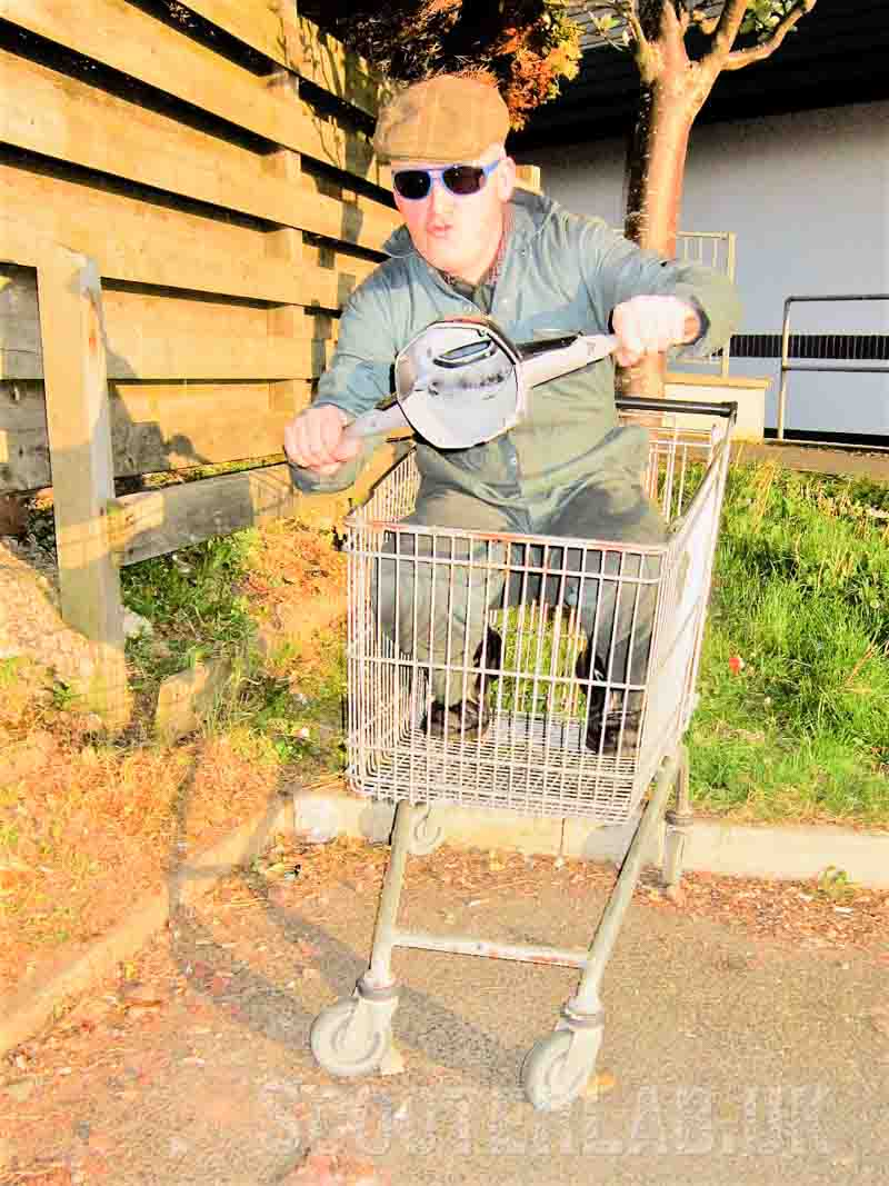 Nick's canal dredging antics in search of shopping trolleys had become embarassing