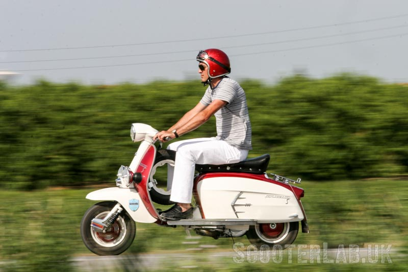 Lambretta's original SX200: flat floor and horizontal lower panel lines were a signature of the Slimstyle range