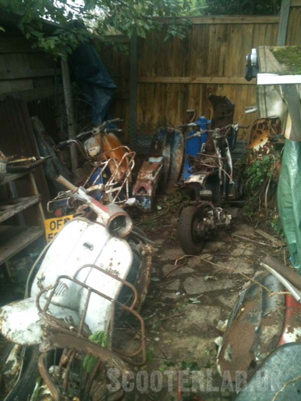 In Kent, where scooters came to die...