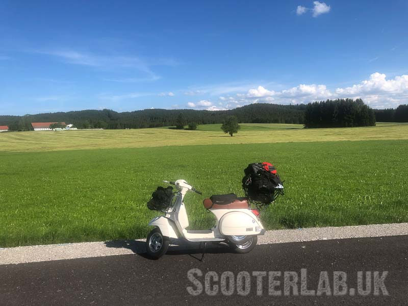 Wookie's trusty (just mended so not too trusty) T5 makes an emergency replacement scooter for the trip