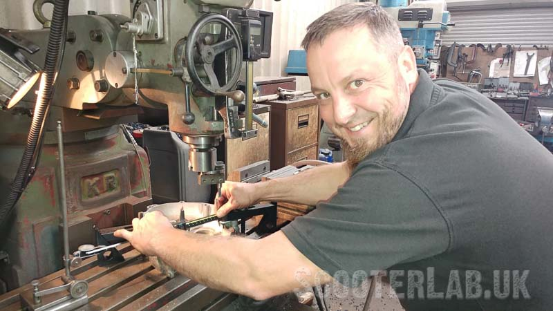 Paul the engineer working his magic on the casings