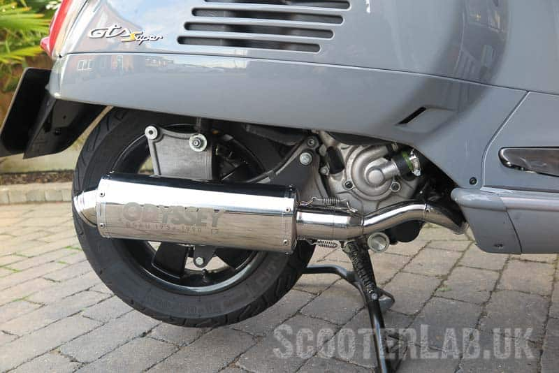 TSR Odyssey Vespa GTS exhaust | REVIEW