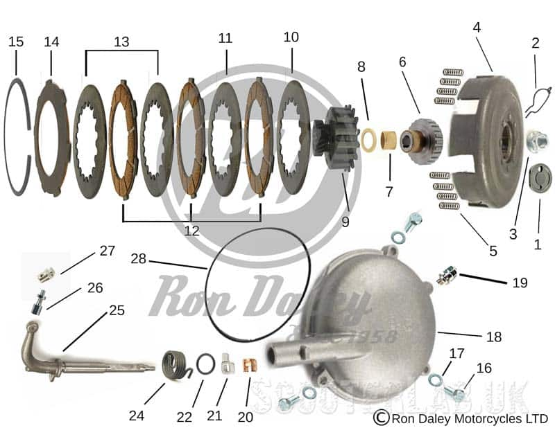 NEW Ron Daley easy online Vespa PX/T5 parts system | NEWS