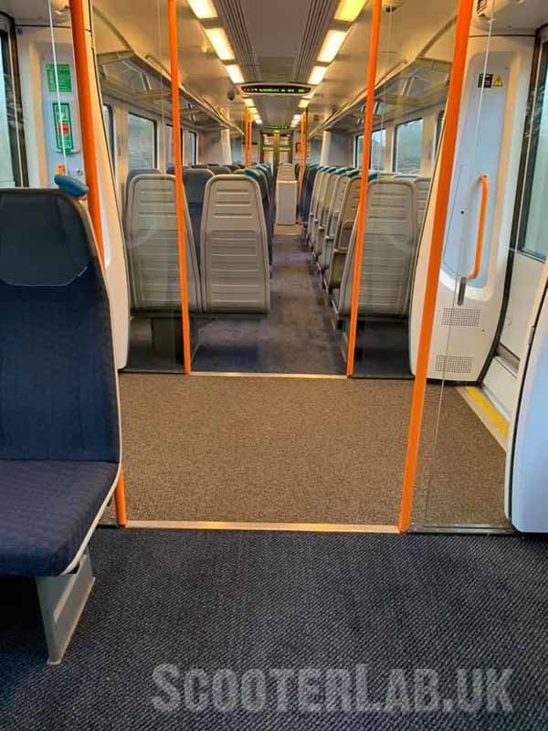 Train capacity is reduced from 358 to just 96 under social distancing measures: Image by Gareth Bishop