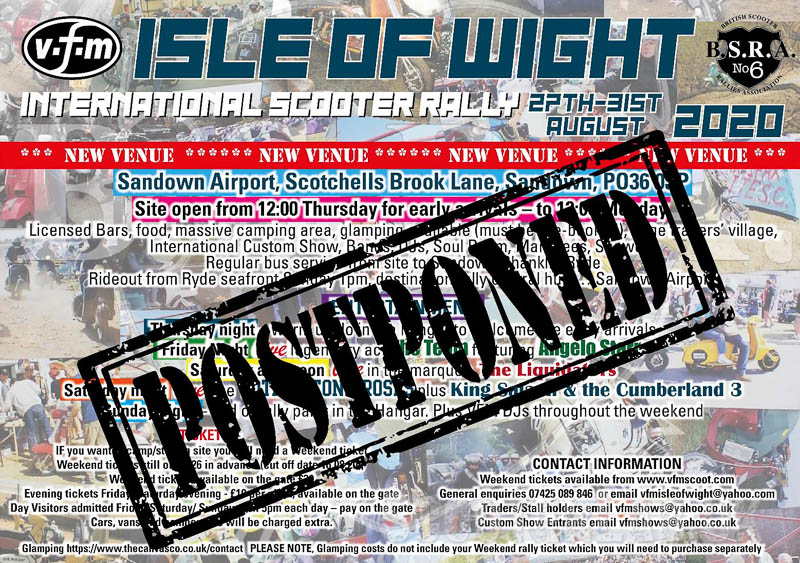 The Isle of Wight International Scooter Rally  – postponed | NEWS