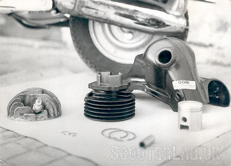 Gori's 75cc conversion for the Vespa 50 was one of the first true tuning kits that you could buy off the shelf
