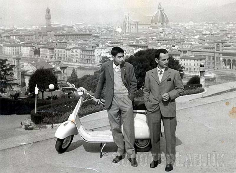 Giancarlo with his father Vasco in Firenze in the late 1950s